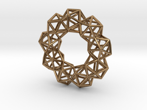 Icosahedron Radial Pendant in Raw Brass