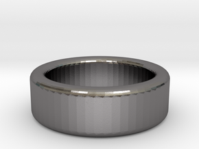 Round Ring in Polished Nickel Steel