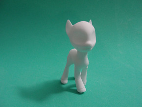 Earth BJD Pony: Small Version in White Strong & Flexible