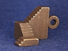 Winding Stairs in Matte Bronze Steel