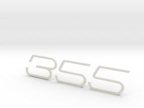 KEYCHAIN 355 F1 INSERTS WHITE in White Strong & Flexible