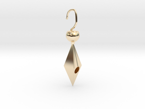 Golden cheap cute earring in 14K Gold