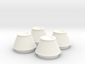 1/8 K&N Cone Style Air Filters TDR 4600 in White Strong & Flexible Polished