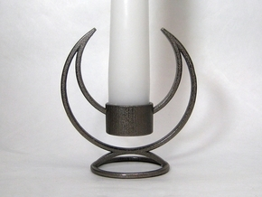 Solstice Candle Holder in Polished Nickel Steel