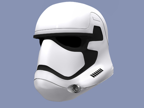 Miniature Episode 7 StormTrooper Helmet in White Strong & Flexible