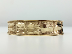 Gator 16cm Bracelet (small) in Polished Bronze