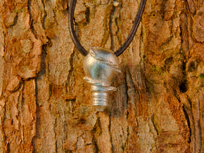 You Light My Life Necklace in Raw Silver