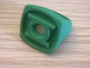 Green Lantern Ring in Green Strong & Flexible Polished