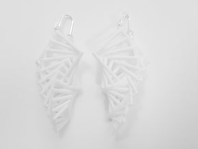 Arithmetic Earrings (Rhombus) in White Strong & Flexible