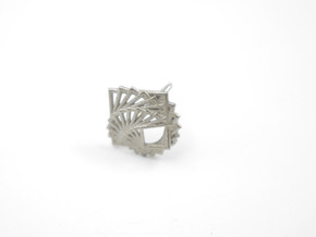 Arithmetic Ring (Size 7) in Polished Nickel Steel