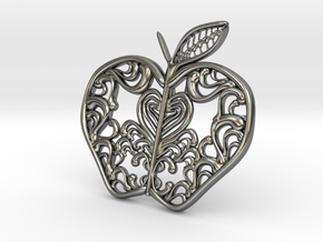 Inside the Apple - Pendant in Polished Silver