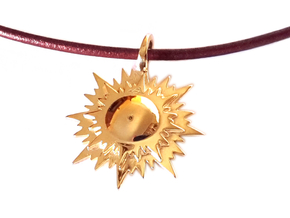 """doppio sole"" pendant in Polished Brass"