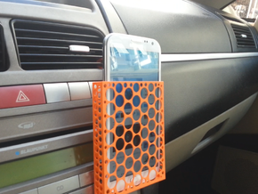 IPhone 6 Plus, Samsung Note 3 car mount in Orange Strong & Flexible Polished