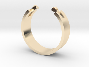 Studded Cuff Ring - Sz. 8 in 14K Gold