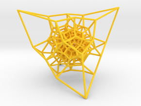 Inversion of a diamond lattice in Yellow Strong & Flexible Polished