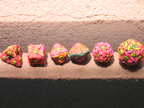 Flower Dice (Small) in Full Color Sandstone