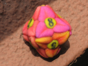 Flower D8 (Small) in Full Color Sandstone
