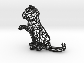 3D Wire Kitten (Not Exploding Kittens) in Black Strong & Flexible