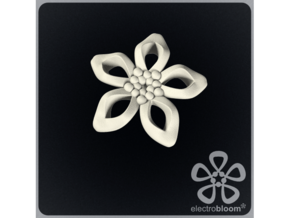 Elizabeth flower charm. in White Strong & Flexible