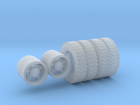1:64 10.00-20 Gripper tires & Dayton Wheels  in Frosted Ultra Detail