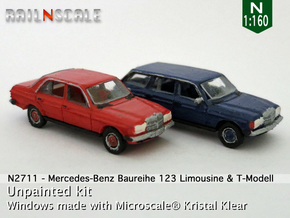 SET 2x Mercedes-Benz W123 (N 1:160) in Frosted Ultra Detail