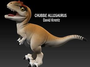 Allosaurus chubbie krentz 1 in White Strong & Flexible