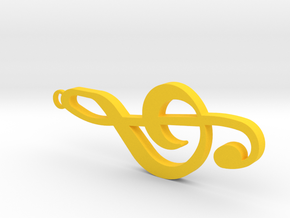 Sol Key Pendant in Yellow Strong & Flexible Polished