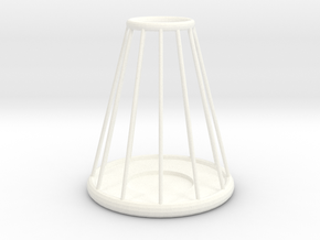 Candle Stick Holder in White Strong & Flexible Polished