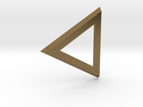 Triangle 'Trinity' pendant #Bronze in Raw Bronze