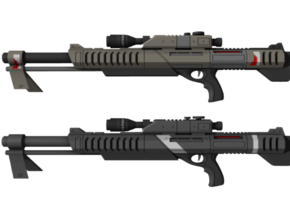 Mass Effect - 1:8 scale - M98 (Black) Widow in Frosted Ultra Detail