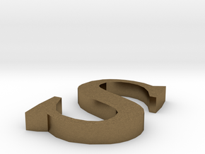 Letter- s in Raw Bronze