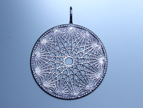 Sacralinear Pendant By Unellenu  11  in Polished Silver