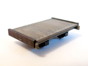 8ft Narrow Gauge Flat Wagon (x3) in Frosted Ultra Detail