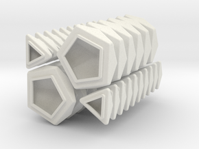 Pentultimate RHOMBIC caps full set in White Strong & Flexible