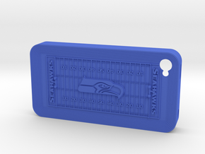 iPhone 4 Football SH in Blue Strong & Flexible Polished