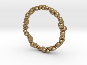 Bubble Ring in Polished Gold Steel