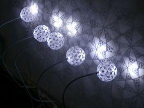 Part of stereographic projection lamp in White Strong & Flexible