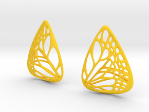 Colorful Butterfly Earrings (L) in Yellow Strong & Flexible Polished