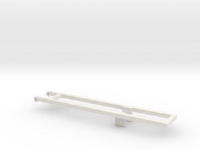 1/64th 20' and 22' Mounting frame for truck in White Strong & Flexible