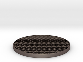 Honeycomb KillFlash 48mm diam 3mm height 4mm diag  in Stainless Steel