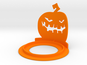 Halloween Pumpkin Tea Candle Holder in Orange Strong & Flexible Polished