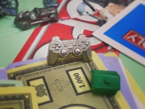 Gamer - Monopoly Game Piece (Rags to Riches Series in Stainless Steel