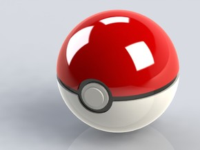 Small Poke Ball / Small Ultra Ball in White Strong & Flexible