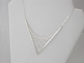 Parabolic Suspension Statement Necklace - Metal in Premium Silver