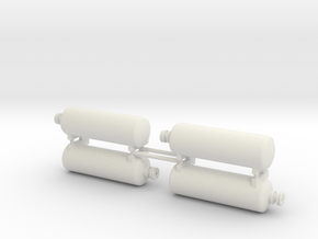 DODX Air Tank - Set of 4 (1:29 scale) in White Strong & Flexible