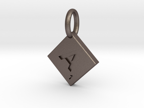 SCRABBLE TILE PENDANT  A  in Stainless Steel