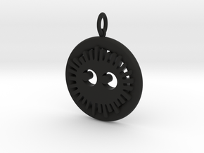 Soot Sprite Pendant in Black Strong & Flexible