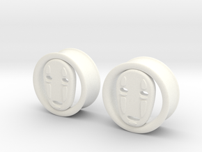 1 Inch No Face Tunnels in White Strong & Flexible Polished