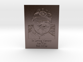 Bob Miller Memorial Engraved in Polished Bronze Steel