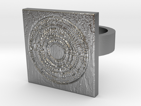 Dr Who The Pandorica Ring 2 in Raw Silver